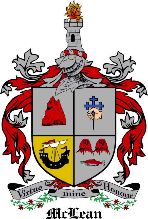 McLean family crest Scotland genealogy