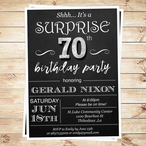 Surprise 70 Birthday Party Invitations Surprise 70th Birthday Party Ideas 30th Birthday Party Invitations Surprise 30th Birthday Surprise Birthday Invitations