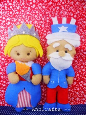 4th of July, Uncle Sam and Statue of Liberty PDF PATTERN ETSY https://www.etsy.com/pt/listing/232333085/4th-of-july-pdf-pattern-uncle-sam