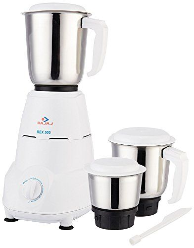 Buy 4 Bajaj Rex 500 Watt Mixer Grinder With 3 Jars White Kitchen Electronics Electronic Kitchen Appliances Mixer