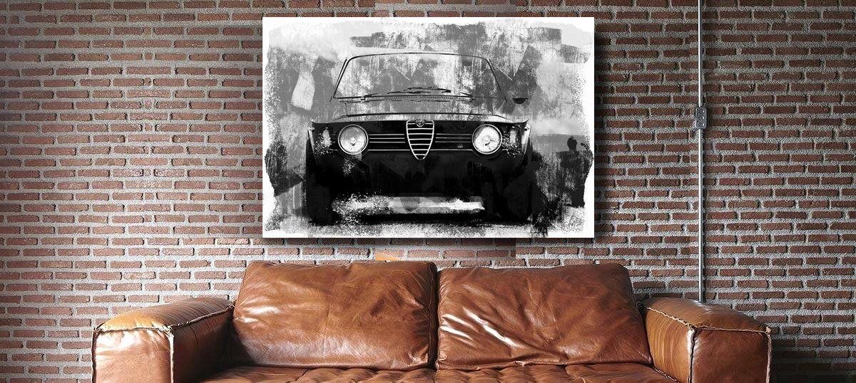 Alfa Romeo Gt 1867 Large Wall Art Watercolor Print Or Canvas Etsy Watercolor Print Art Large Wall Art