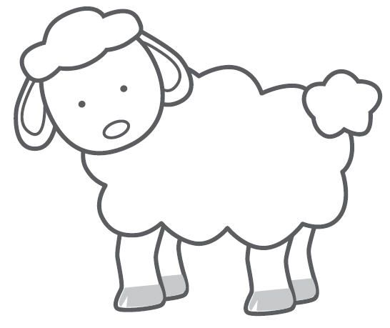 Simple Hand Drawn Sheep Lamb Clipart For Coloring