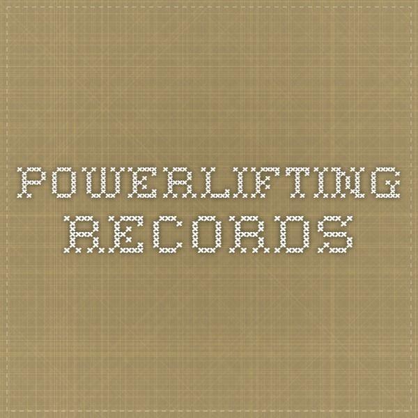 Les 25 meilleures id es de la cat gorie records de powerlifting sur pinterest halt rophilie - Record du monde developpe couche ...