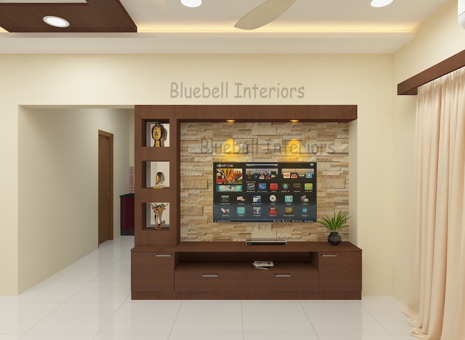Tv Unit Stone Tile Cladding Wall Shelves Living Room Tv Unit Designs Living Room Partition Design Modern Tv Wall Units