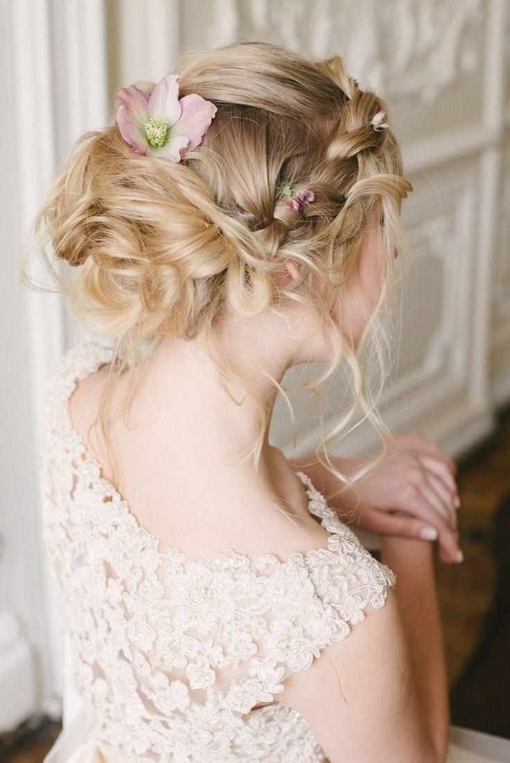 romantic russian spring bridal shoot   one day   bridal updo