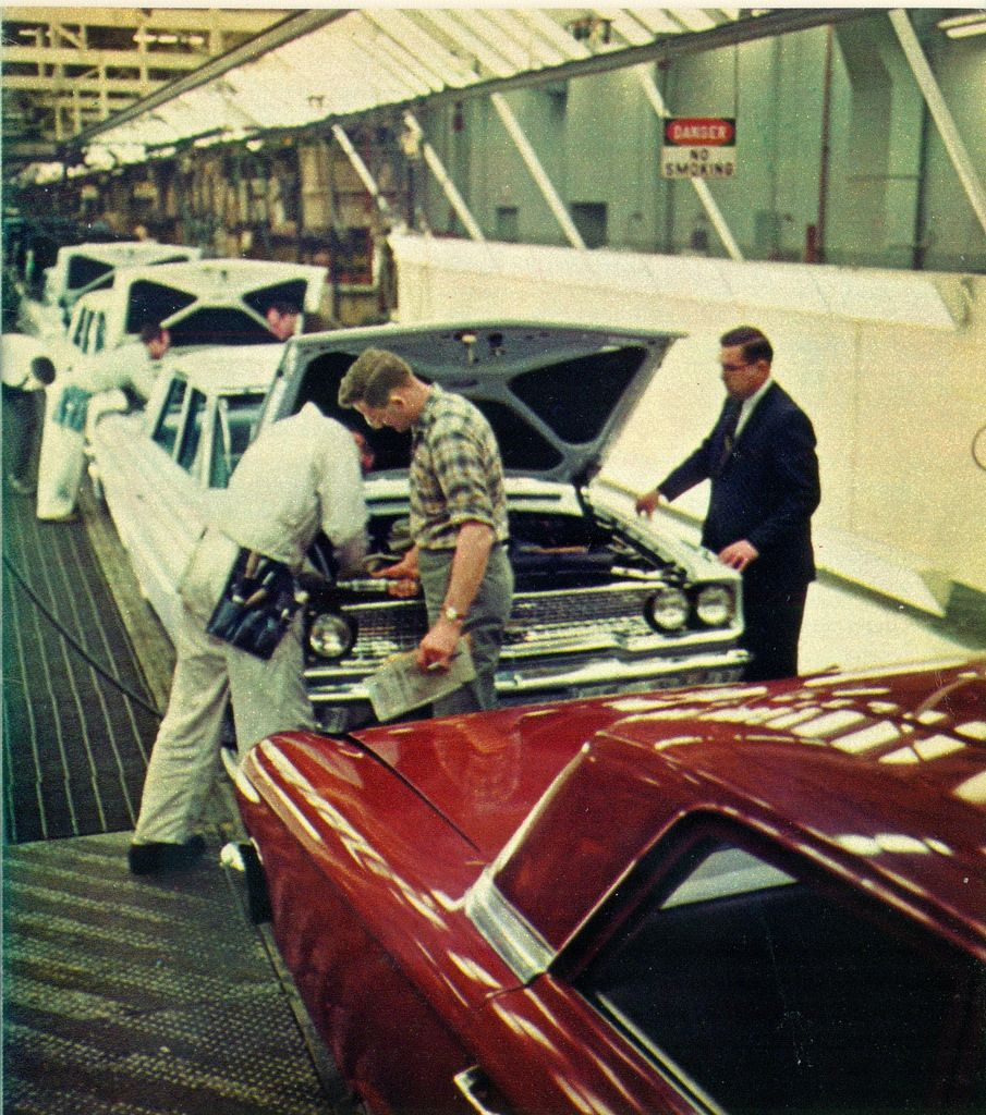 1963 Ford Galaxie Assembly Line At Louisville Kentucky By Coconv