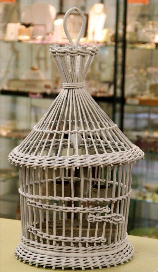 Antique Wicker Bird Cage Wicker Bird Cage Paper Weaving