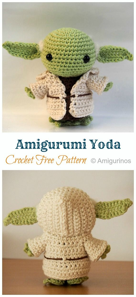 8 Amigurumi Yoda Crochet Patterns #crochetdolls