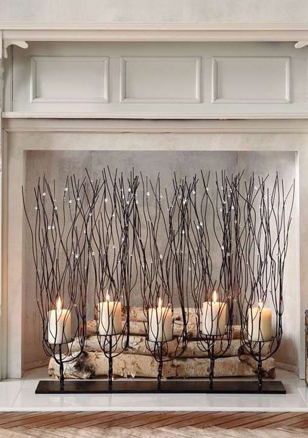 20 Romantic Fireplace Candle Ideas | Home Design And Interior ...