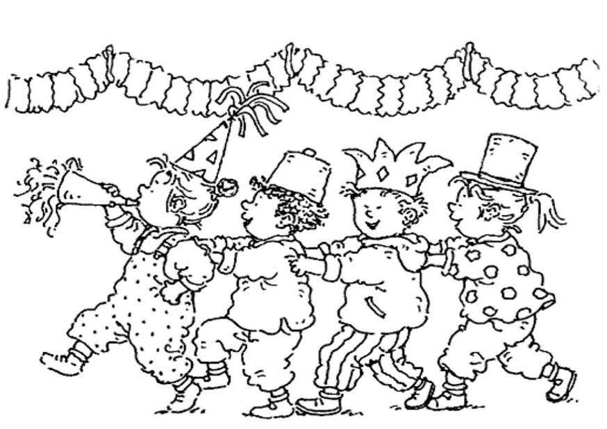 Polonaise Dagmar Stam Ausmalbilder Fasching Ausmalbilder Karneval