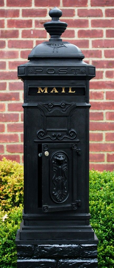 Ecco Victorian Tower Mailbox In Black E8bk Mailboxes Victorian