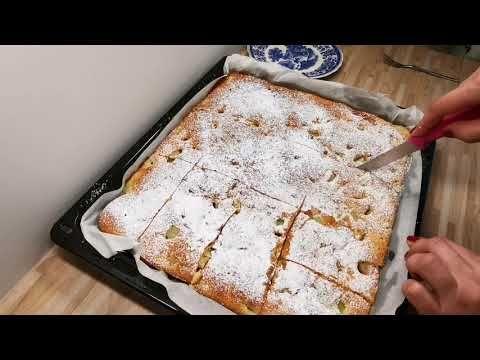 Luftiger Rhabarberkuchen, schnell, einfach, köstlich Rhabarber-Kuchen, Blechkuchen