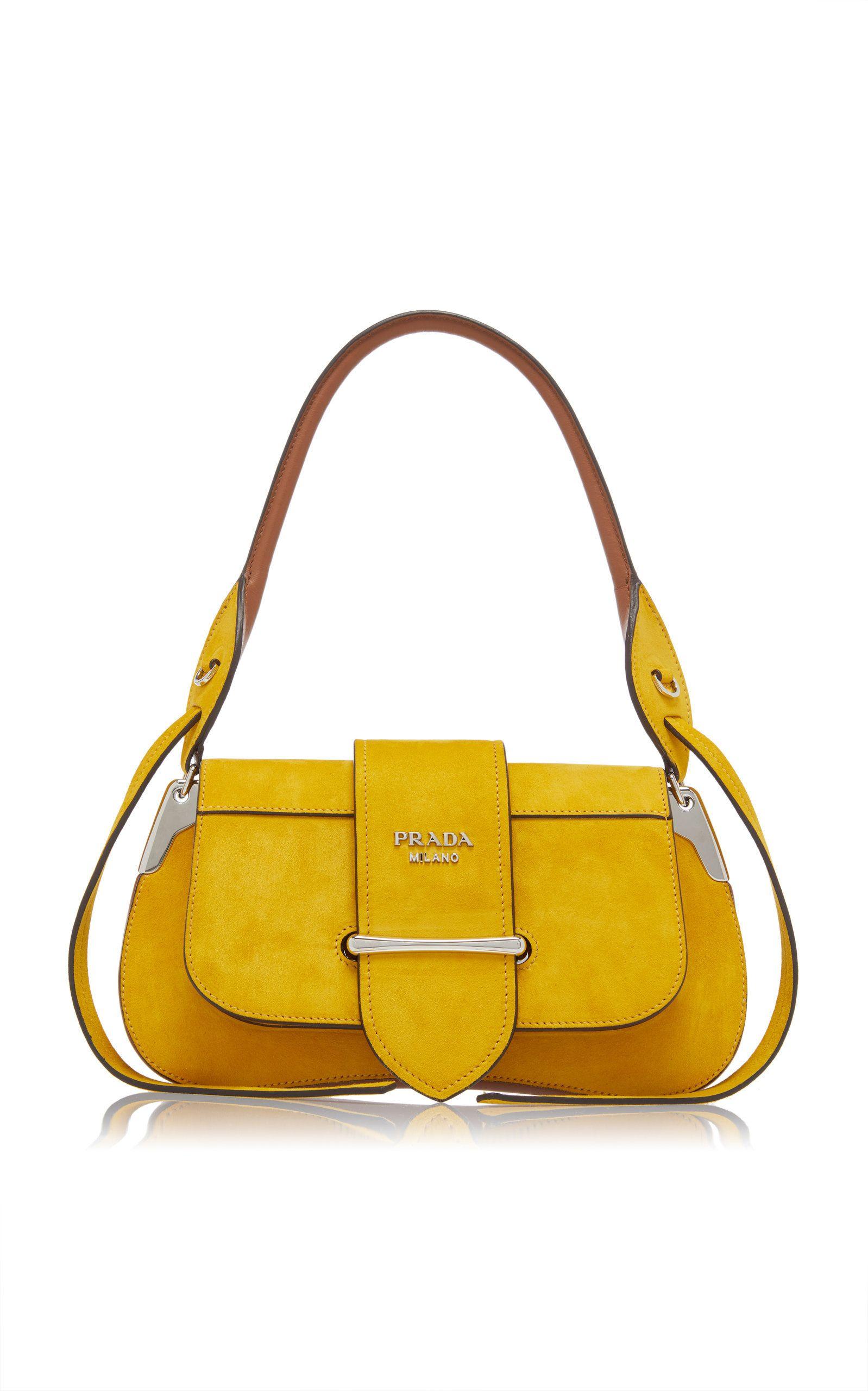 e319c299e7 Suede Top Handle Bag by PRADA for Preorder on Moda Operandi
