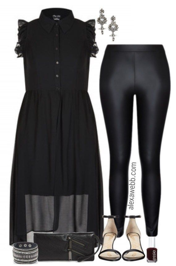 c7e5c444264b2 Plus Size Night Out Outfit - Plus Size NYE Outfit Idea - Plus Size Fashion  for Women alexawebb.com  alexawebb  plussize