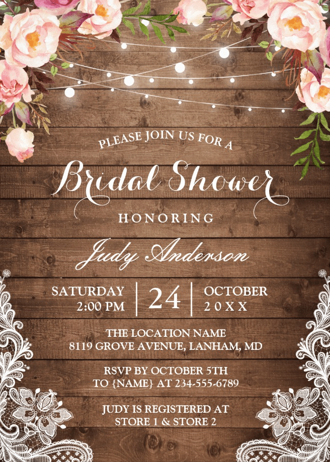 10 Bridal Shower Invitations With