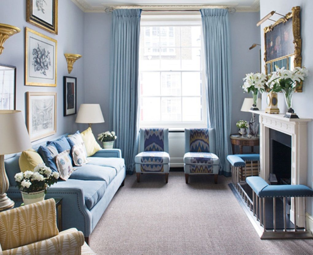 Jane Churchill Interiors London Based Interior Decorator And Designer Portfolio With Images Blue Living Room Blue Rooms Blue White Decor