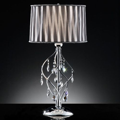 Found it at wayfair crystal 1 light 31 h table lamp with drum shade