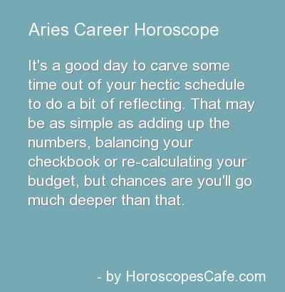 Aries Career Horoscope
