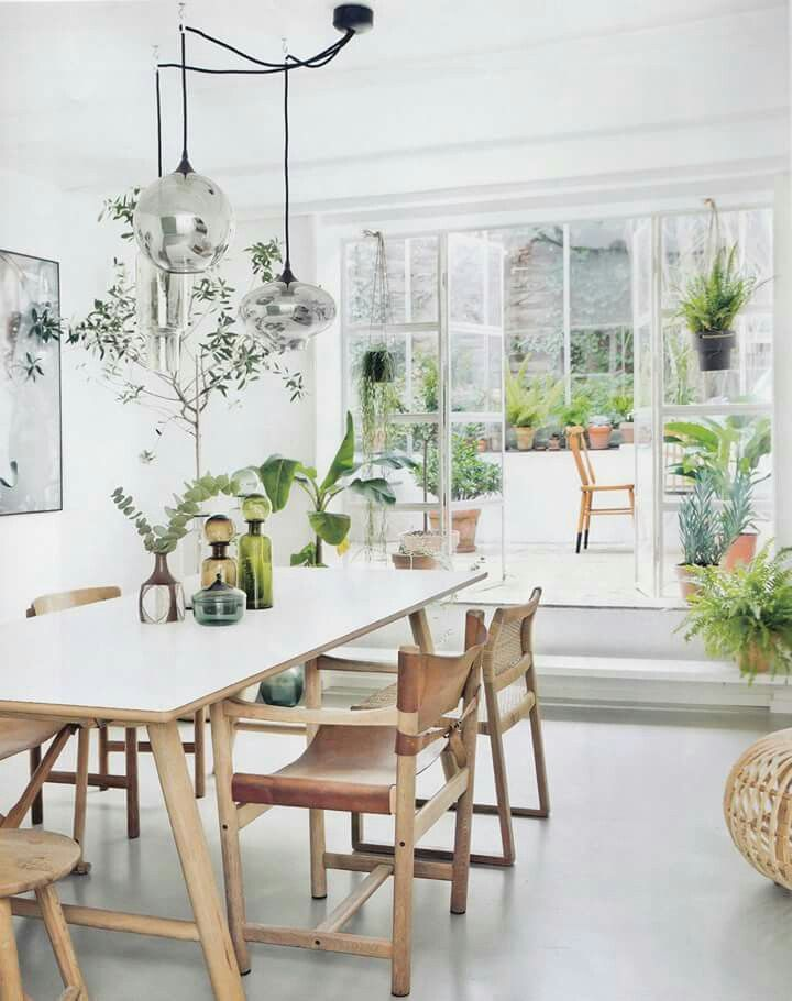 Light And Bright Dining Area With A Botanical Feel