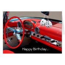 Happy Birthday Classic Car Lover Greeting Card