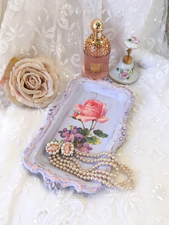 oval boudoir vanity tray pin gold mirror filigree vintage for dresser metal