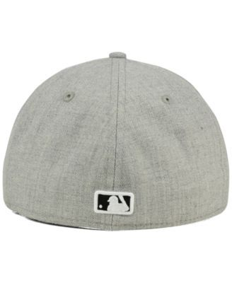 finest selection b55c6 2fe87 New Era San Francisco Giants Heather Black White 59FIFTY Fitted Cap - Gray  7 3 4