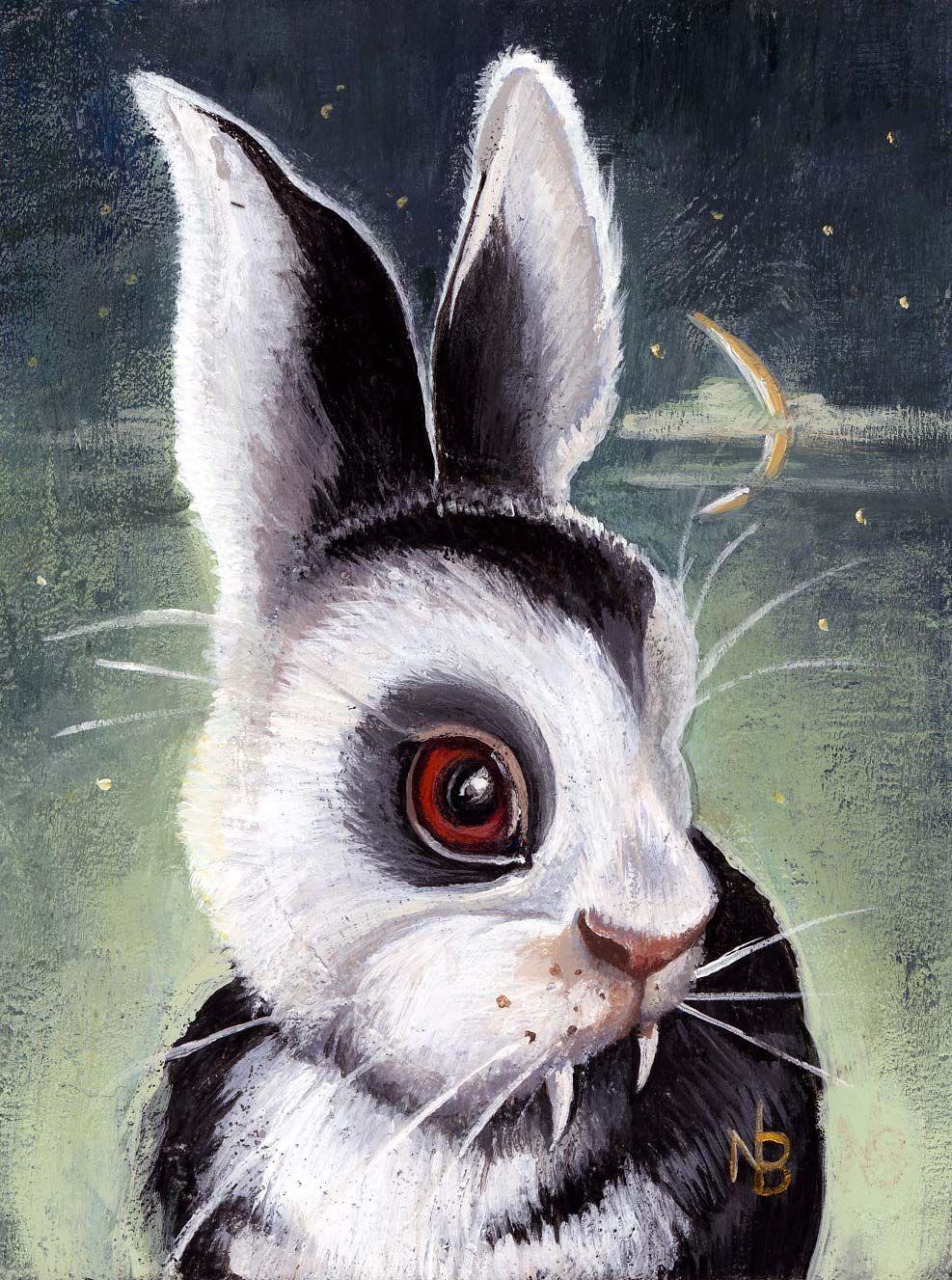 Uncategorized Nicole Bruckman S Blog Bunny Rabbit Art Bizarre Art Artist Inspiration White tomatoes reading bunnicula