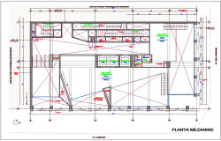 Mezzanine plan for office dwg file   Cadbull   Cad blocks