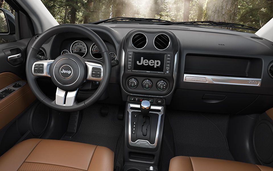 Jeep® Compass Limited includes leathertrimmed seats and a