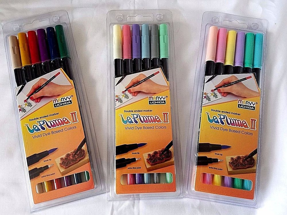 Le Plume Ii Double Sided Watercolor Marker 6 Color Set Choose