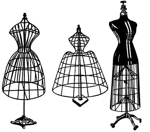 antique wire dress forms mannequins png jpg silhouette sewing ...