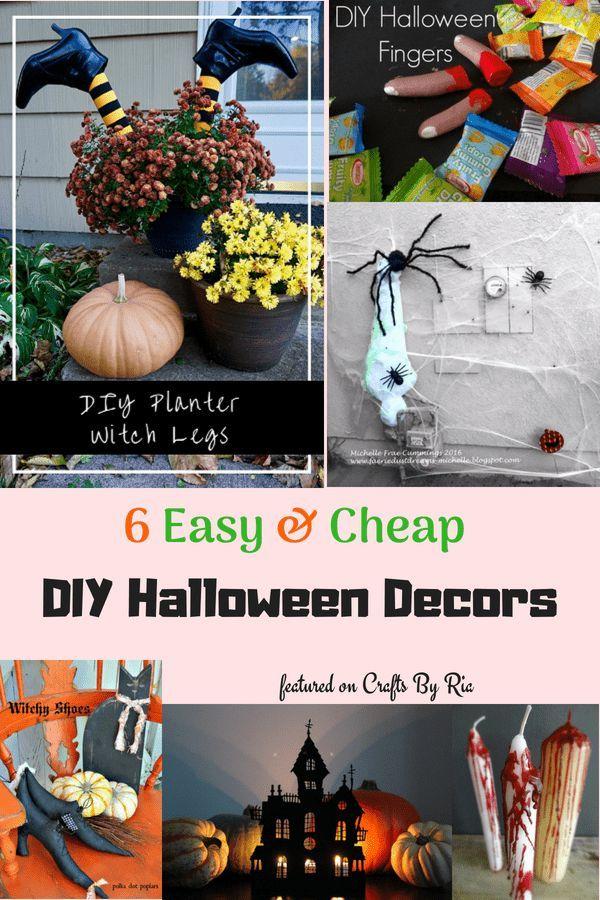 6 cheap Halloween decoration ideas Easy and spooky DIY crafts DIY