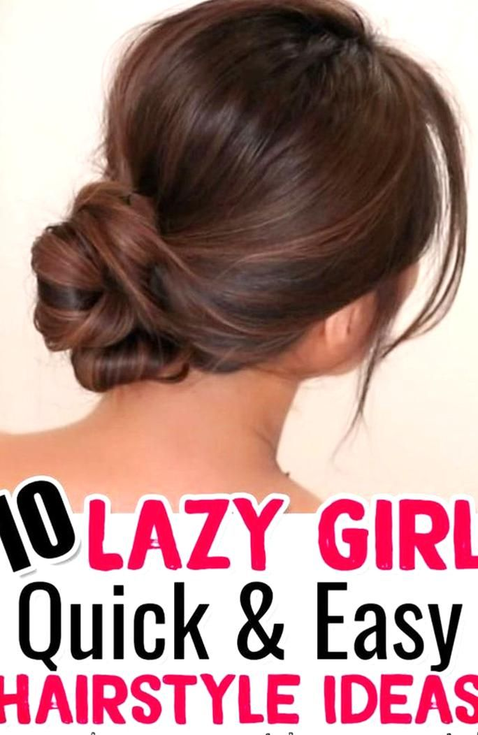 10 EASY Lazy Girl Hairstyle Ideas and Hacks - Step By Step Video Hair Style Tutorials ST1122019 ...