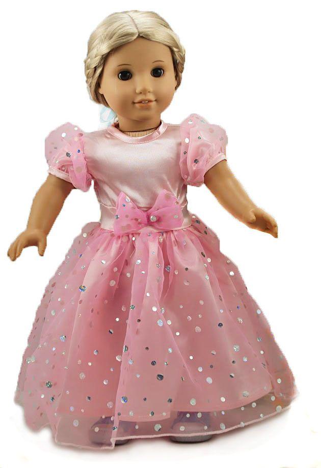 Pink Socks wiht Orange Polka Dots Fits 18 inch American Girl Dolls