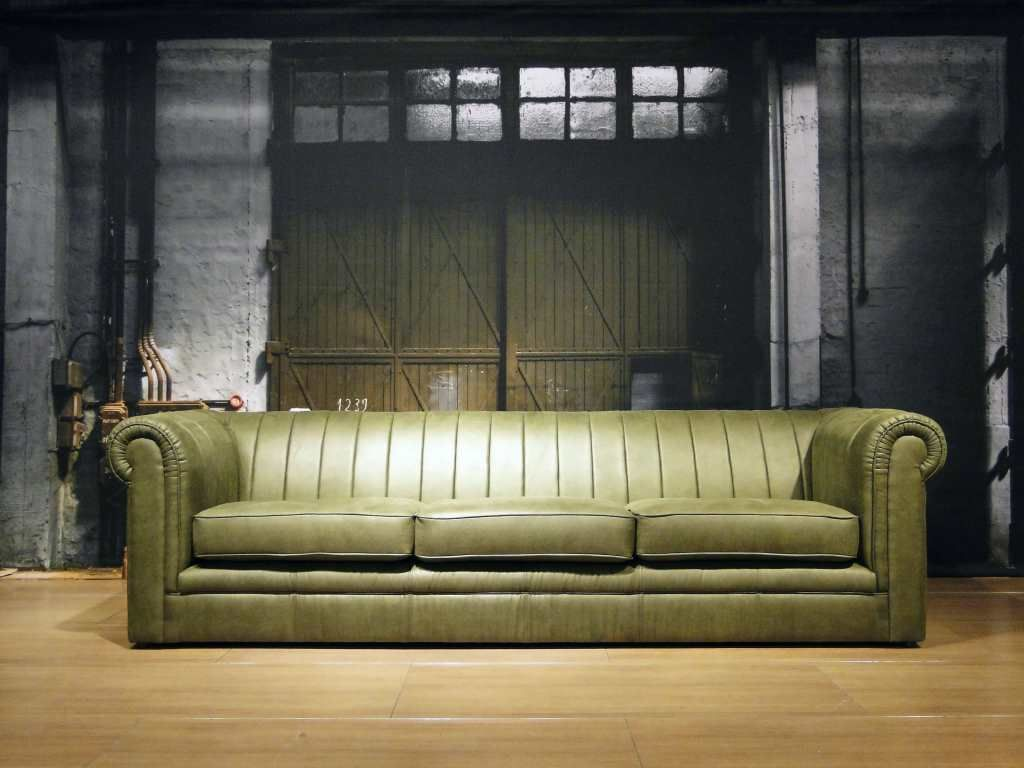 Moderne Chesterfield Banken : Lederen bank chester banken chaise longue chesterfield bank