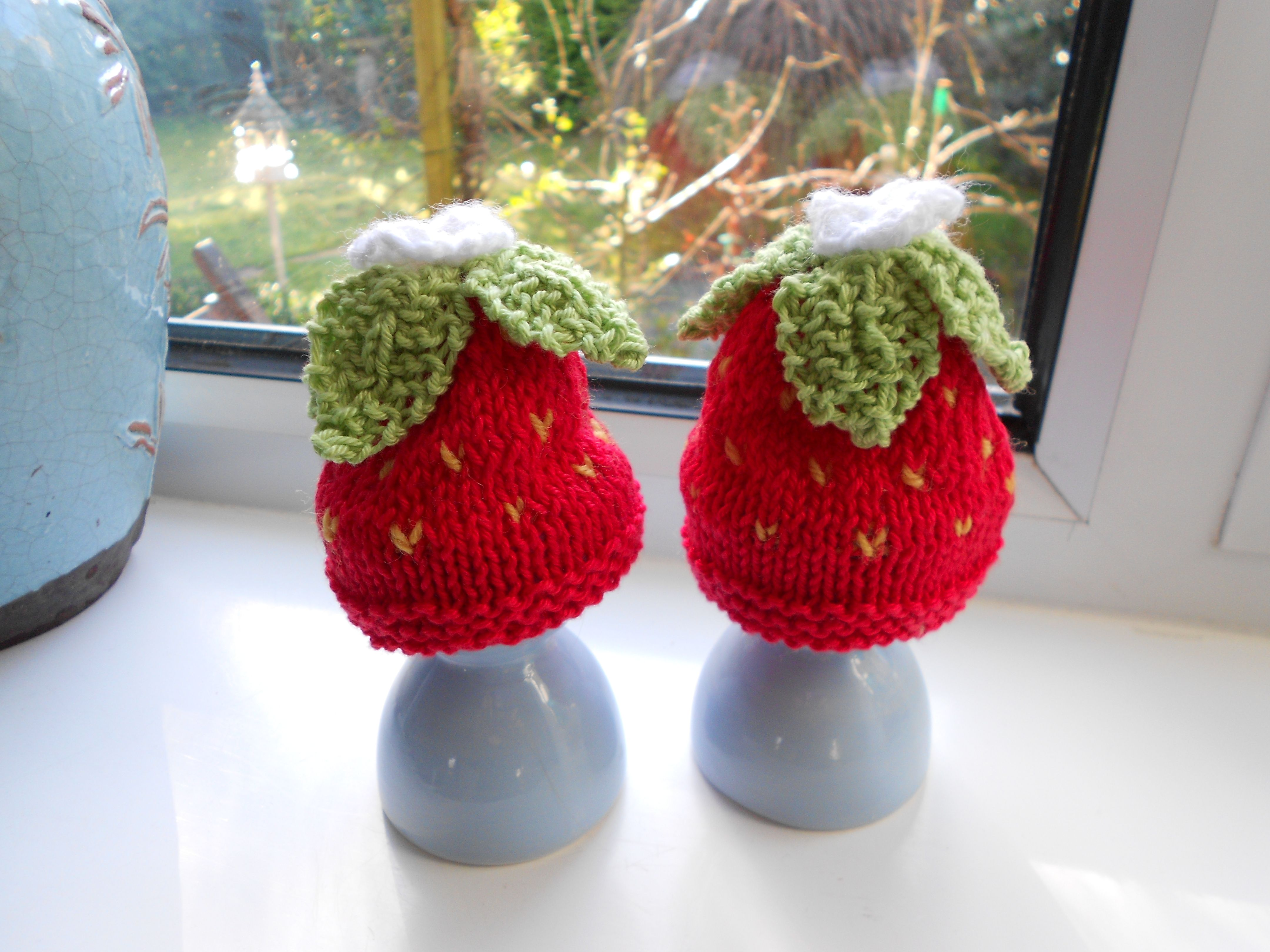 Strawberry Egg Cosies Pattern From Knit Today Issue 45