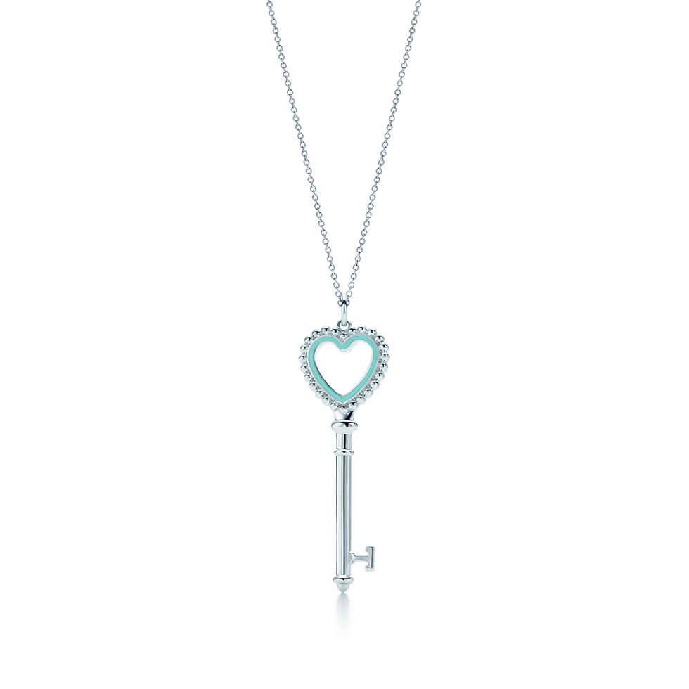 Tiffany keys beaded heart key pendant tiffany key key pendant tiffany keys beaded heart key pendant mozeypictures Choice Image