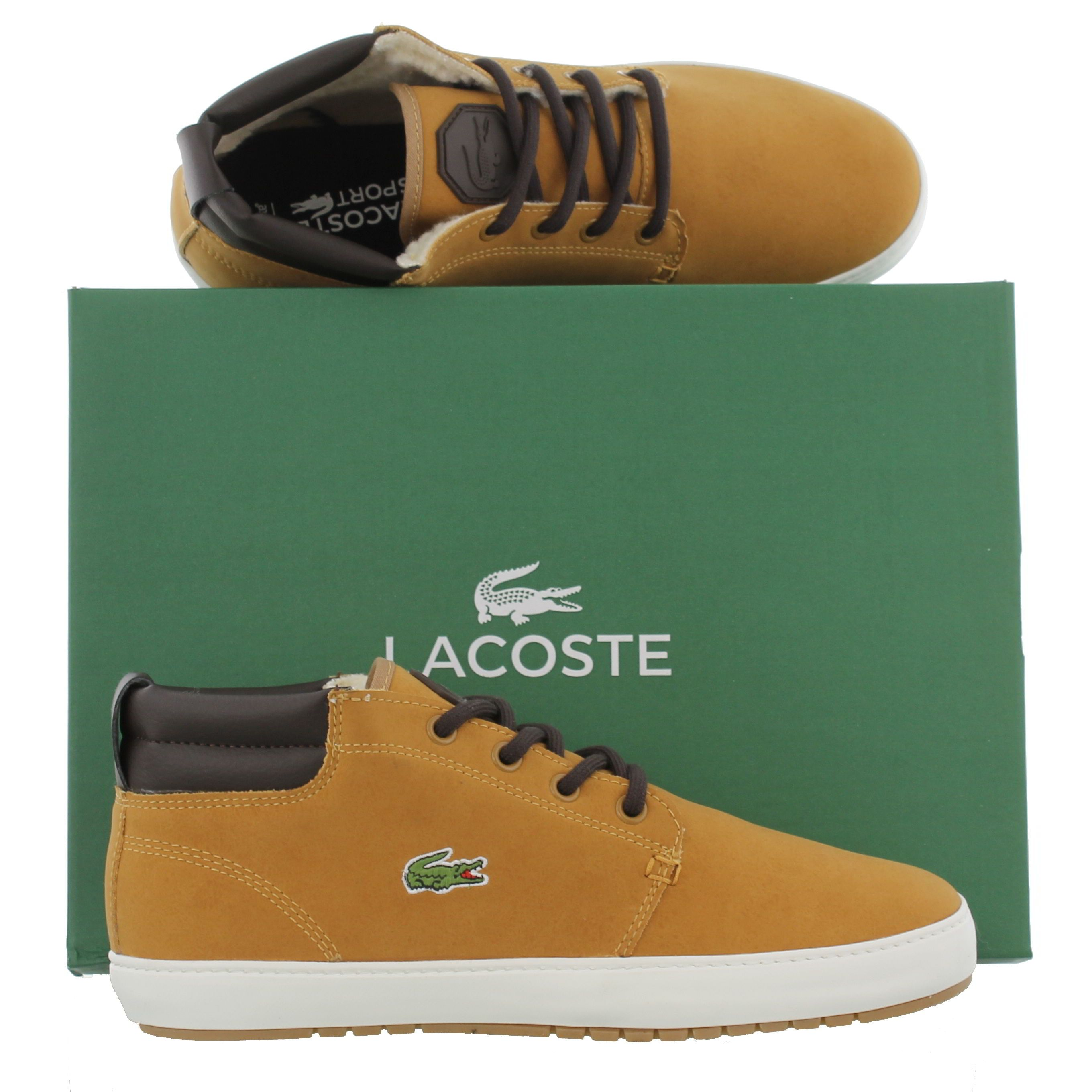 Lacoste Mens Ampthill Terra 3 Trainers - Dark Tan
