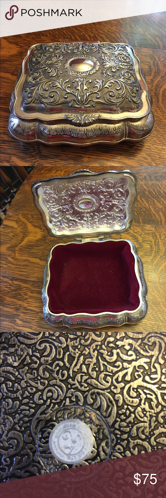 Vintage Godinger Silver Art Co Jewelry Box Gorgeous silver played