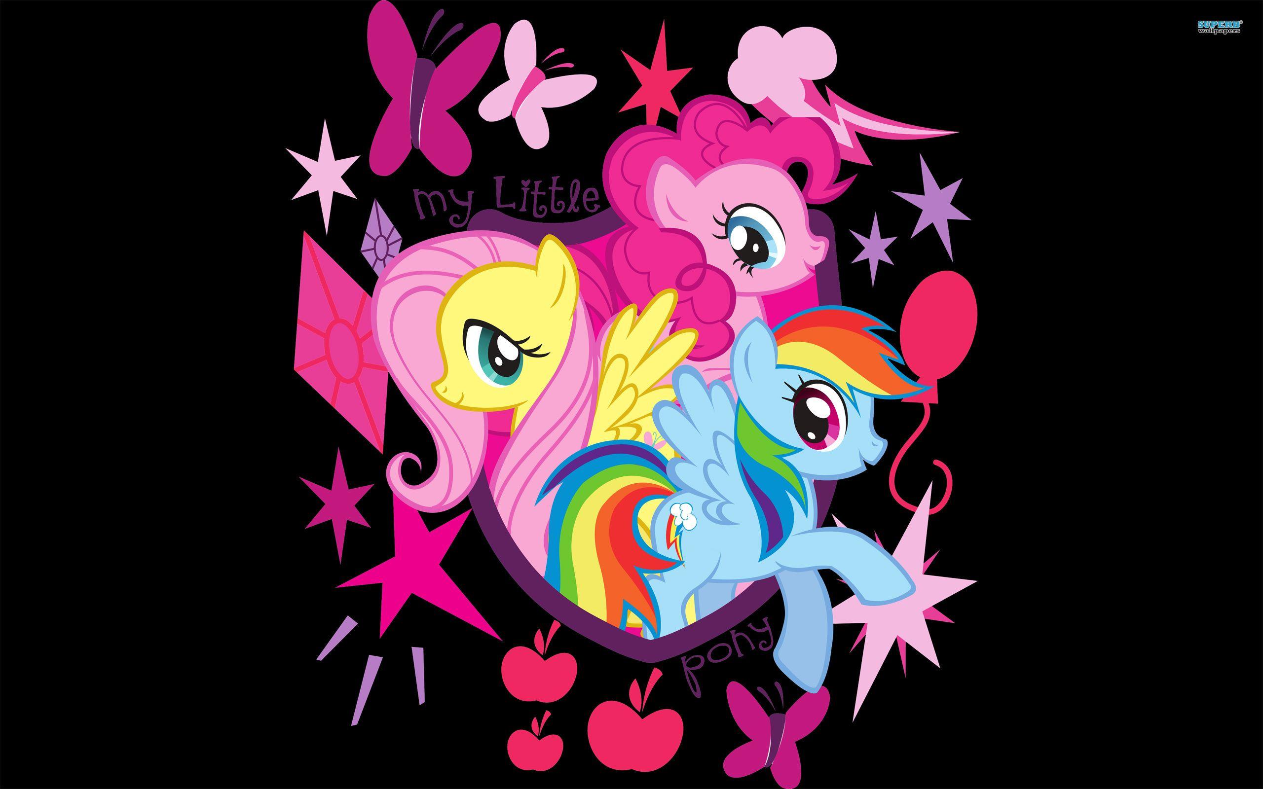 Fluttershy Pinkie Pie And Rainbow Dash Wallpaper Cartoon
