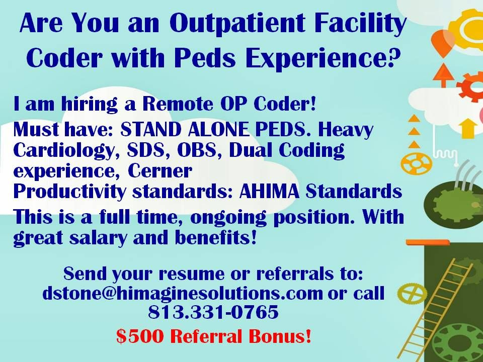 Are You an Outpatient Facility Coder with Peds Experience