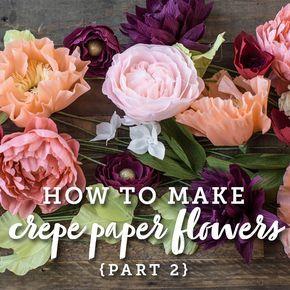 Video Crepe Paper Flowers 101 Part 2 Paper Or Fabric 4ur Flowers