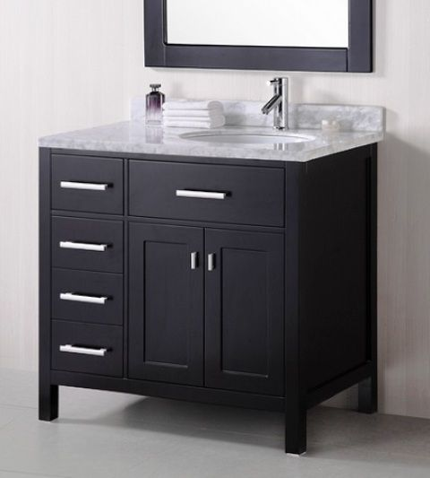 Offset Sink Vanity Top