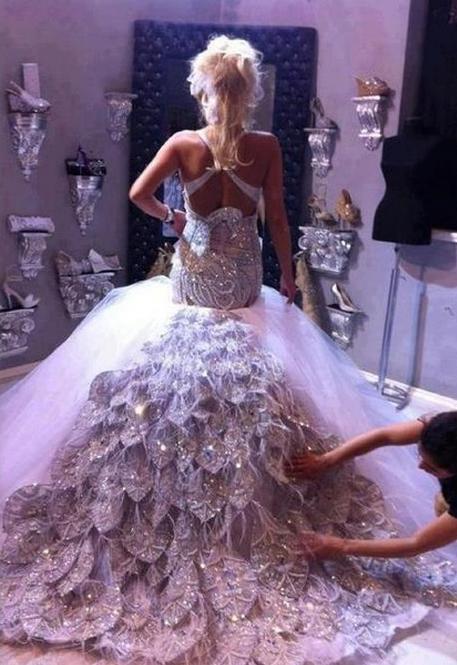 Wedding Dress Sparkle Flashy