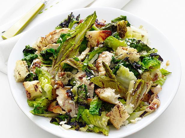 Grilled Chicken Caesar Salad Recipe Ceasar Salad Recipe Food Network Recipes Grilled Chicken Caesar Salad