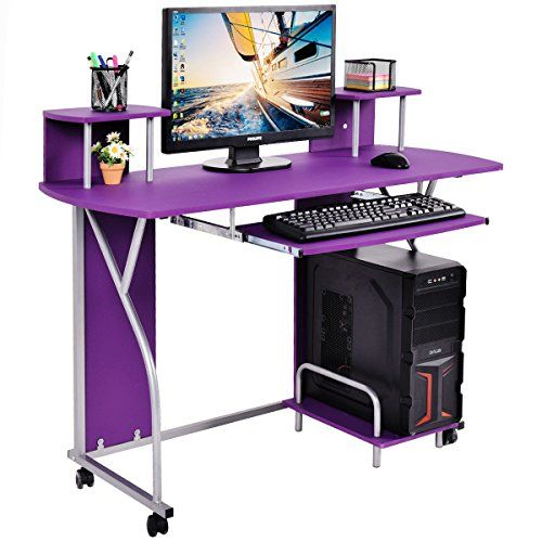 PC Laptop Desk Pull Out Tray Home Office Workstation New