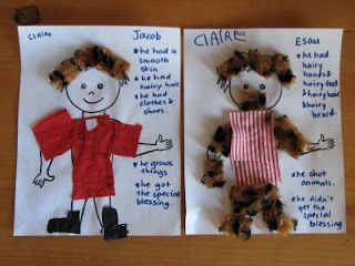 Bible story hour jacob and esau same and different craft for Jacob and esau crafts