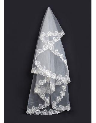 3M DXYTS Velo da Sposa Veils Copricapo di Velo Bridal Wedding Veil Velo da Sposa Nuovo Stile Coreano Coda Molto Lunghi 3 Metri di Larghezza Merletto del Fiore Velo,Bianca,3