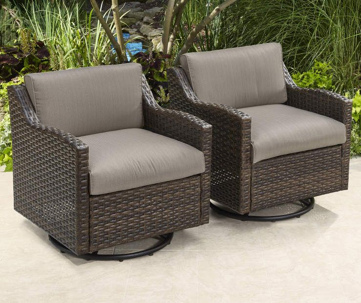 Augusta All Weather Wicker Swivel Gliders, 2Pack at Big