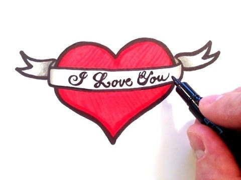 Love Heart Simple Way Of Drawing An Amazing 3d Heart Drawing Matilda Journal In 2020 How To Draw Ribbon Heart Drawing Drawing Tutorial Easy